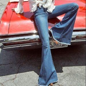 [Free People] Raw Hem Vintage Flare Jeans
